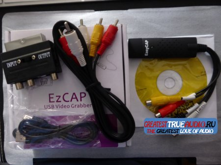 EzCAP 2.0 Audio Video Grabber Adapter Konverter VHS, V8, Hi8 EZCap